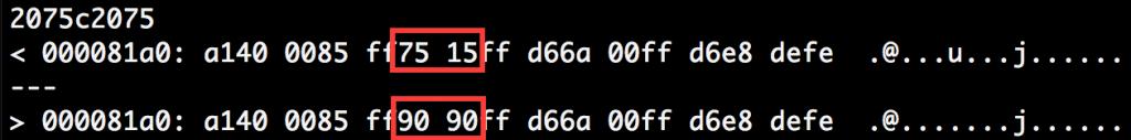 図3 オリジナルの Dropper と(1)の検体の Dropper のコードの差異