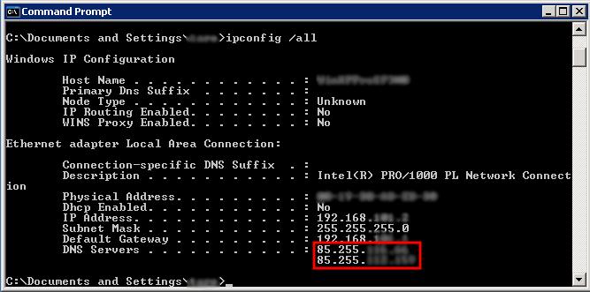 DNS Changer 感染後のネットワーク設定
